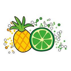 Pineapple lime soda